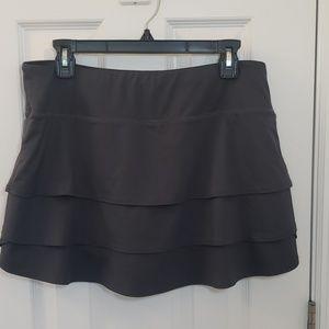 Athleta Skirt Skort Grey Layered